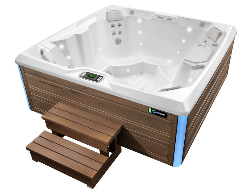 The Limelight Beam is an excellent hot tub for medium-size and narrow decks.