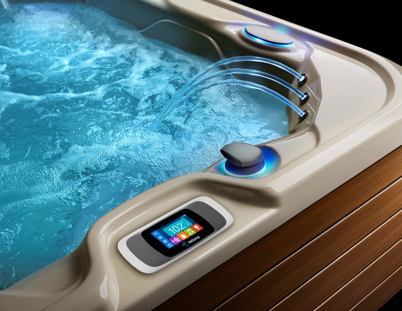 Design your unique spa experience from the intuitive hot tub control panel.
