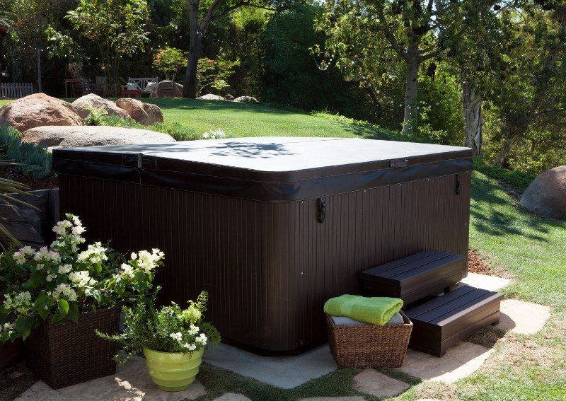 It's a good idea to locate your hot tub where you'll be able to easily drain it