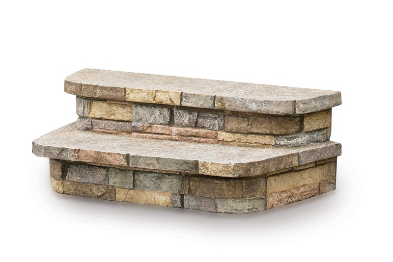 Spastone® steps mimic the look of natural stone