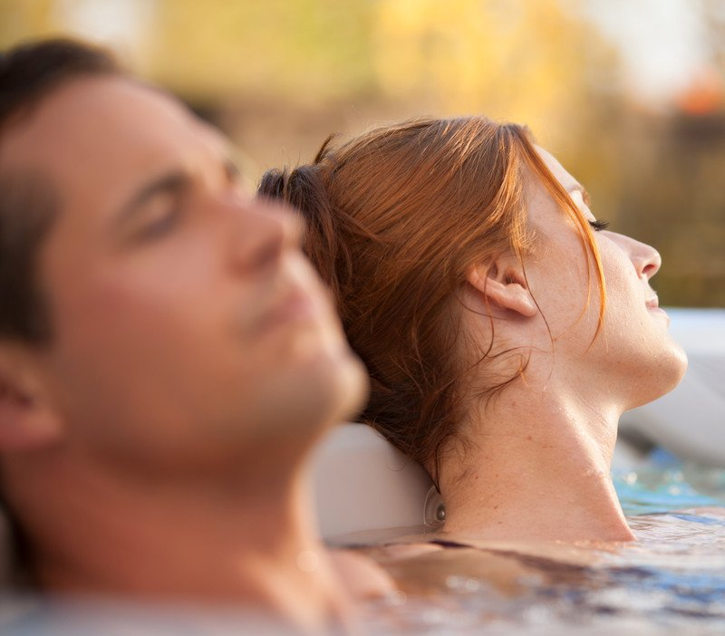 A spa chilled with CoolZone technology is a great place to cool down on a hot day.