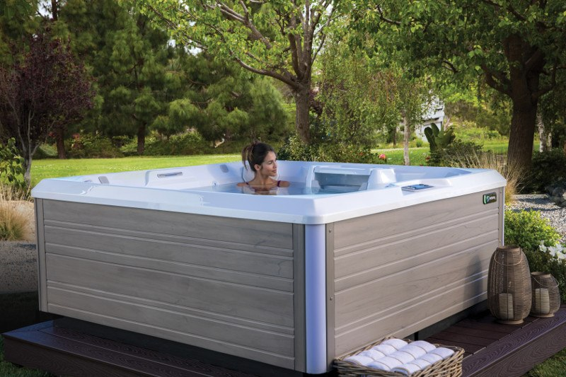 A well-built hot tub is designed to withstand the elements.