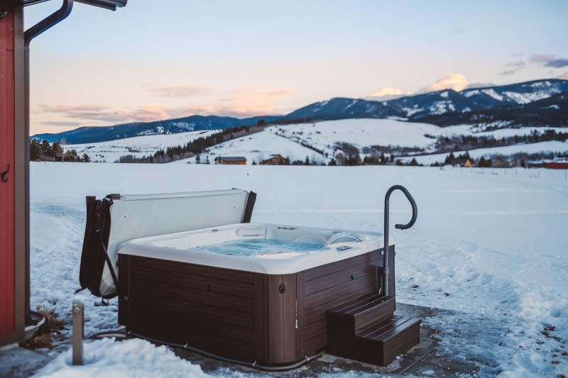 Quality hot tub cabinets protect systems from the sun, rain, and snow.