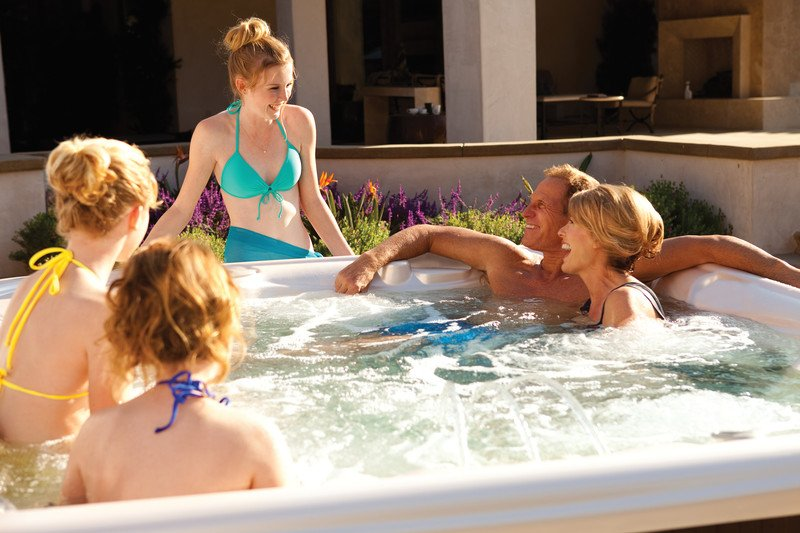 Help manage your teen's stress with a soak together in a spa.