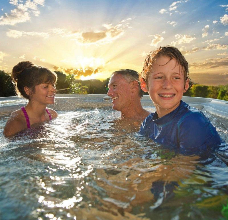A hot tub is a great place to have a long conversation with your teen about stressors.