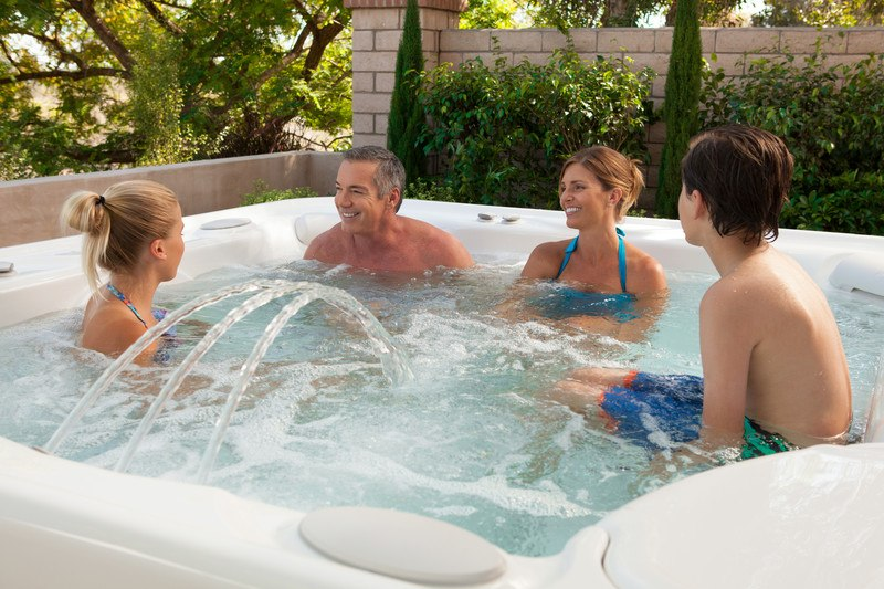 Physical and mental relaxation in a hot tub can help teens manage stress.