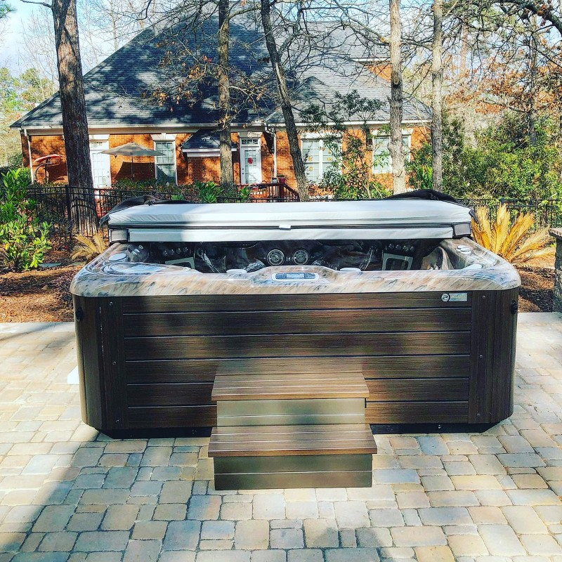 Find peace in a Hot Spring hot tub - Backyard Hot Tubs That Inspire Us Hot Spring Spas