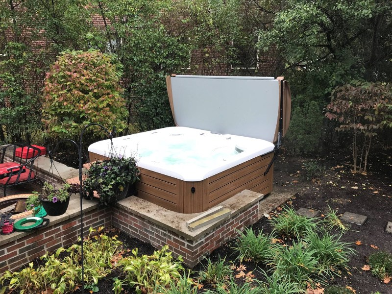 Take a break in your Hot Spring hot tub - Backyard Hot Tubs That Inspire Us Hot Spring Spas